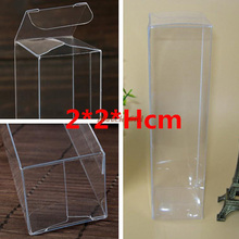 50pcs/lot  PVC Craft Display Box Clear Transparent Wedding Favor Gift Boxes Candy Cosmetic Jewelry Plastic Box Packaging For Pen