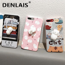 Buy Phone Case Samsung Galaxy S4 S5 S6 S7 Edge S8 S9Plus 3D Cute Soft Silicon Squishy Cat Fundas Cover Animal Rabbit Kitty Coque for $2.53 in AliExpress store