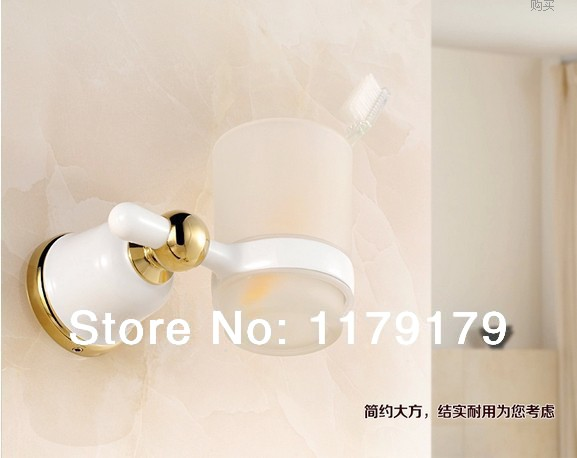 Copper  bathroom cup &amp; tumbler holder,white  single toothbrush holder  bathroom accessories 46882<br><br>Aliexpress