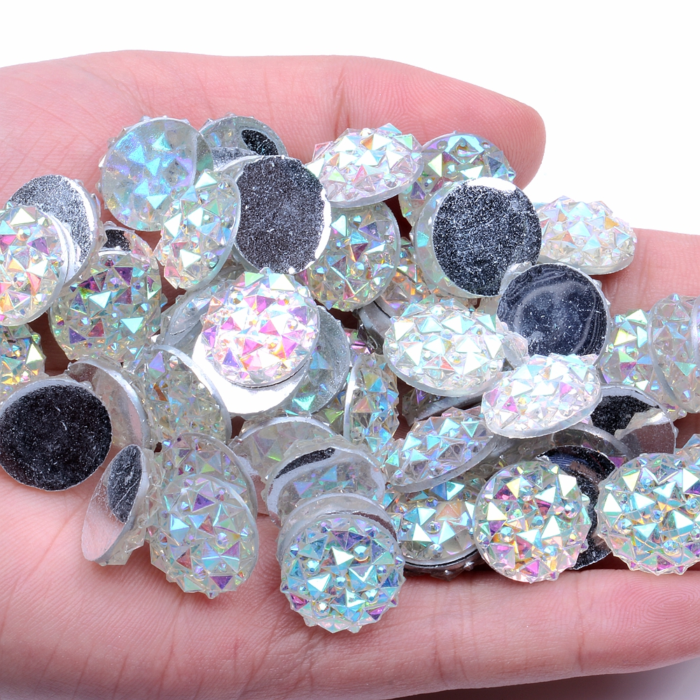 200Pcs Teardrop Shaped Flatback Resin Sewing Crystal Clear Rhinestone with Double Holes Sew or Stick On Clothing Dress Crafts Decoration
