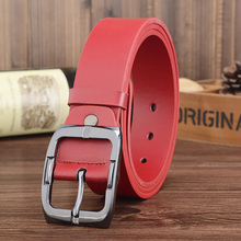 Red Designer Luxury Brand Belts for Mens Genuine Leather Male Women Casual Jeans Vintage Fashion High Quality Strap Waist