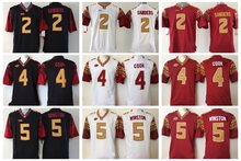 Men's Florida State Seminoles Jameis Winston Dalvin Cook Deion Sanders jerseys(China)