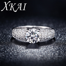 White Gold Filled Rings For Women Wedding Jewelry Bijoux zirconia vintage Accessories Engagement Bague Bijouterie gift XKR024