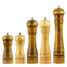 3 sizes Oak Wooden Manual Salt and Pepper Mill For Spices Peepper Grinder Classical Pepperbox Garlic Mill Accessorie Tool Gadget(China)