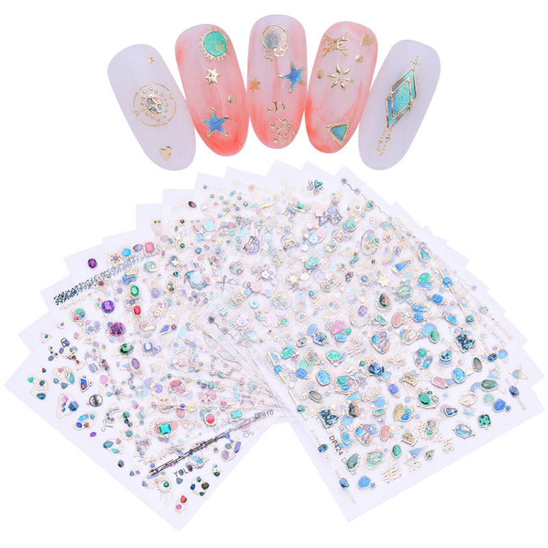 3D Nail Sticker Nail Art Decoration Gem Jewel Stone Adhesive Decals Transfer Sticker Manicure DIY Tools