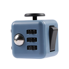 Mini Stress Fidget Cube Desk Finger Toy Keychain Squeeze Fun Stress Reliever Puzzle Magic Cube Anti Stress Toy 11 Colours 3.5CM(China)