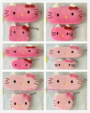 Novelty 2PCS=1SET , Kid's Hello Kitty Plush 10CM Coin BAG Series , Pocket Coin Purse Wallet Pouch , 20cm Coin BAG Pouch(China)