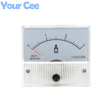 1 pc New 85c1 Current Monitoring 0~3A Analog DC AMP Panel Meter Class 2.5 Pointer Ampere Gauge