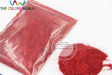 0.2mm Laser Red glitter powder shining dust