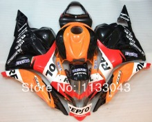 100%Fit injection Fairings for REPSOL HONDA CBR600RR F5 09 10 CBR600 RR 2009 2010 CBR 600 RR 09 10 11 12 orange black red body