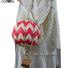 Women New Handbags Stars Balloon Creative Party Street Messengers Chain Decoration Girls Evening Bags F003(China)