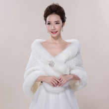 2016 Hot Selling High Quality Exquisite Large Ivory Fall Winter Wedding Shawls with Diamonds Handmade Wedding Accessory