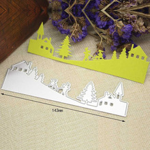Forest Border Metal Cutting Dies Stencils Xmas Scrapbooking Paper Cards Crafts