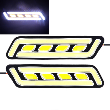 Buy ITimo Flexible COB Super Bright Daytime Running Light Braking Light Car-styling LED Car DRL 1 Pair Auto Turn Signal Lamps for $7.80 in AliExpress store