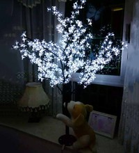Christmas New year decor LED Cherry Blossom Tree 864pcs white LED Bulbs 1.8m/6ft Height 110/220VAC Rainproof Outdoor Usage(China)