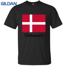 Logo Tshirts Homme Denmark Flag Crest Olive Wreath Danish Pride Oversized Kawaii Black Male Tee Shirt Clothes O Neck