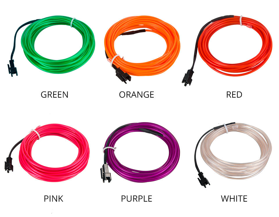 1m 2m 3m 4m 5m Neon Light EL Wire  (5)