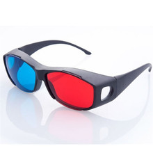 ANEWKODI  Fashion Universal type 3D glasses/Red Blue Cyan 3D glasses Anaglyph 3D Plastic glasses sunglasses