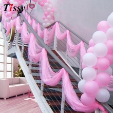 Hot Sale! 75cm Wide Sheer Crystal Organza Fabric Tulle Roll For Wedding Festival Party Decoration 18 Colors Choose 10m/lot