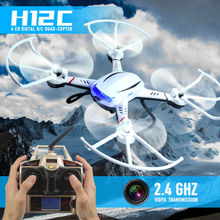 New Aerial RC DRONE H12C RC Quadcopter 2.4G 4CH Headless Mode One Key Auto Return RC Drone with 5.0MP Camera VS X5C H8C