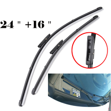 Misima 24''+16'' Windshield Windscreen Wiper Blades For Renault Clio MK 3 For Fluence Megane 3 CC Grandtour Front Window Wiper(China)