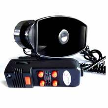 Motorcycle Car Auto Vehicle Van Truck 12V Electronic Warning police Siren horn  Firemen  Ambulance Loudspeaker with MIC 100W