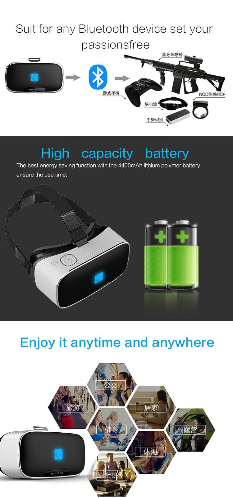 V1 VR Glasses Helmet 3D All in One VR BOX 2K Full HD LCD Screen Display Panorama 360 Degree Headset Game Virtual Reality Glasses