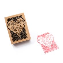 Creative Small Retro Love Shape Wooden Stamp Lovely Diary Diy Wood Stamp Decoration Stamp