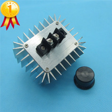 High Power Electronic Voltage Regulator Switch 5000W AC 220V Regulator SCR Dimming Thermostat Aluminum Alloy Cooling(China)