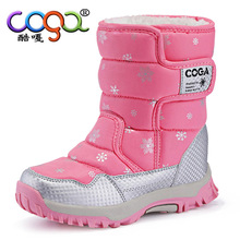Short Boot Kid Casual Shoes Boys Girls Winter Boots Snow Printing Warm Botte Enfant FIlle Black Purple Pink Children Flats 26-38(China)