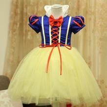 Girl Dress 2017 Fashion White Snow Princess Dress New Style Kids Girls Party Dress Halloween Girls Cosplay Costumes Vestidos