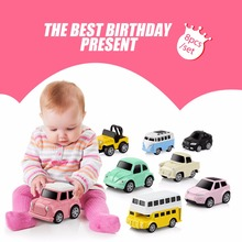 Alloy Car Toy 8pcs/set Pull Back Diecasts Toy Vehicles Small Model Mini Car Toys for Boys Brinquedos Christmas Birthday Gift(China)