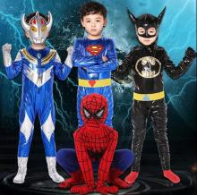 2017 Hot Superhero Movie Kids Avengers Batman Costume Tights Chest Child Costume Cosplay Ultraman Clothes Parent child clothing
