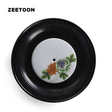 Zen Japanese Black Pottery Peony Teapot Holder Vintage Ceramic Kung Fu Tea Set Cups Plate Coffee Bottle Saucer Tray Home Decor(China)
