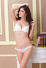 WX14017 free shipping women bra and briefs sets white bra sets 32b 34b 36b