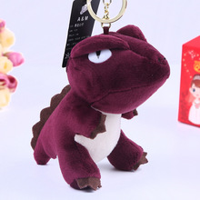 Fur Key Chain New Pompom Animal Plush keychain Bag Charm Accessories Car key Ring Dinosaur doll Fashion Phone Key Holder K1267(China)
