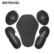 FIVE-PCS EVA protection motorcycle removable protective gears for shoulder elbow pads/knee back protector protection motorcycle