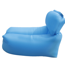 Outdoor Travel Folding Pillow Lazy Sofa Fast Air Inflatable Beach Sleeping Bed Lounger Camping Lay Bag beach sleeping bag