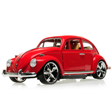 Hot sale classical alloy model car 1:18 beetle bubble car birthday gift Collection gifts(China)