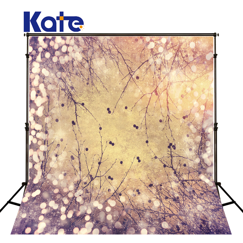 Kate 8X8FT Yellow Photography Backdrops With Lights Old Photos Branches Sparkle Photography Backdrops Newborn Background<br>