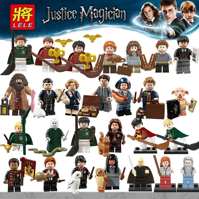 Legoing Harry Potter Hermione Granger Lord Voldemort Ron Draco Malfoy Building Block Brick Toy Magic Figures Compatible Legoings