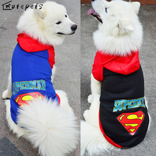 Buy Large Dog Clothes Pet Large Dog Sweater Clothing/ New Gold Sweater Cap Superman for $4.99 in AliExpress store