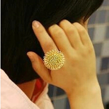 JZ180 Korean charming three-dimensional multi-layer fashion jewelry lovely dandelion flower ring