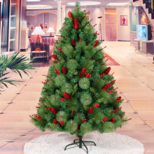 150cm Encryption Pine Artificial Christmas Tree Red Pine Cones Event Party Christmas Xmas Tree