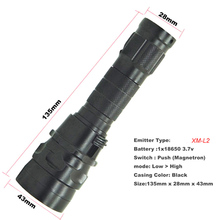 2000 Lm Diving led light 100m CREE XM-L2 LED Flashlight Waterproof Torch used 18650 battery Charger lamp