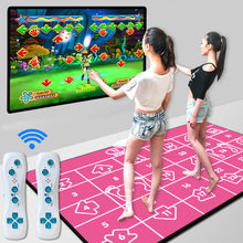 PC English menu 11 mm thickness wireless double dance pad yoga mat Non-Slip Motion Sensing Dance Game Mat Pad for PC & TV(China)