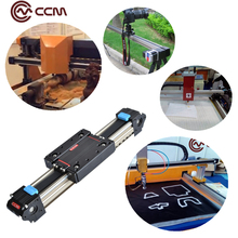 CCM W45-15 1000mm black belt drive systems linear motion actuator toothed belt linear rail for diy cnc router parts on sale(China)