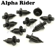 10 Pcs 6mm M6 Plastic Rivet Bike Fairing Trim Panel Fastener Clips for Honda Yamaha Suzuki Kawasaki Ducati Motorcycle Auto Car