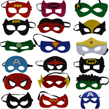 2017 New Super Man Hero Avengers Hulk Flash Transformers Spiderman Batman Eye Masks Masquerade Mask Halloween Party Supplies
