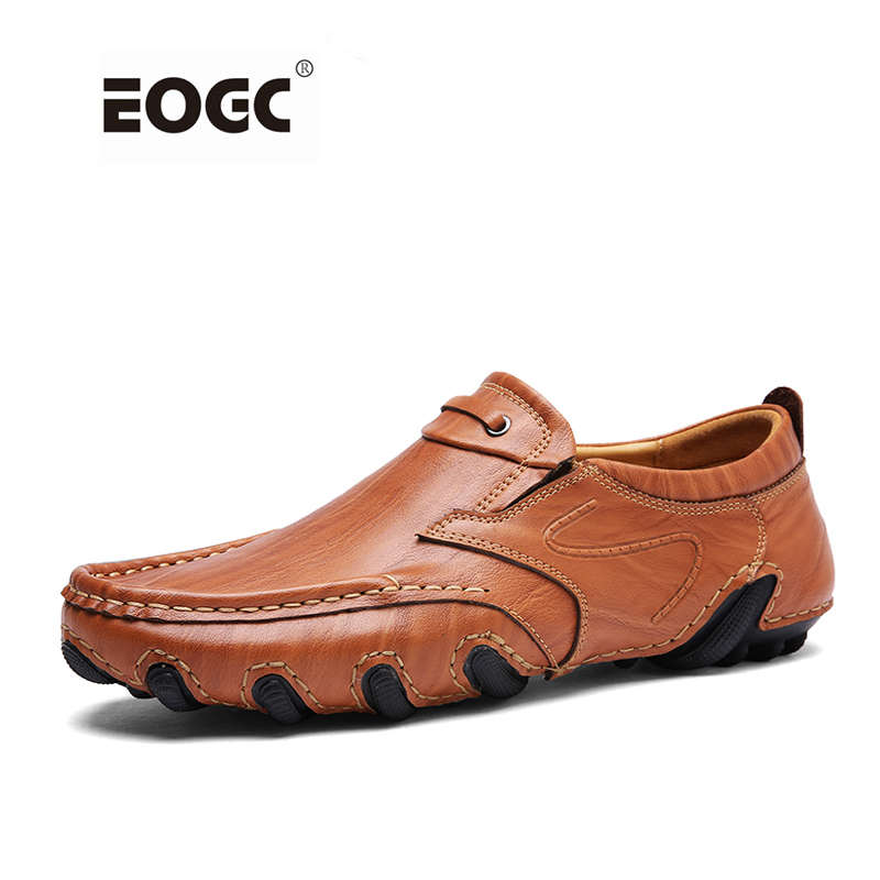 Fashion  Men Causal Shoes Genuine Leather Slip On Men Flats Shoes High Quality Driving Shoes Zapatos Hombre<br>